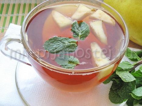 Яблочный чай с мятой
