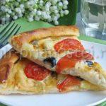 Рецепт пиццы с сыром и помидорами