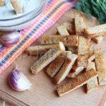 Сухарики из черного хлеба