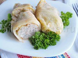 Голубцы с мясом и рисом рецепт